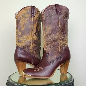 Vintage Acme Western Boots - faux leather